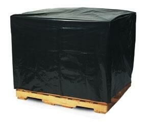 Black Pallet Covers & Bin Liners with UVI Additive, 3 MIL